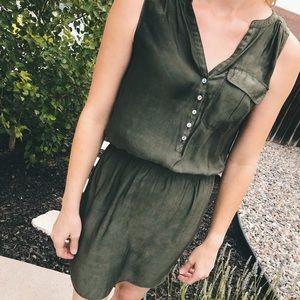 EXPRESS Olive Green Dress
